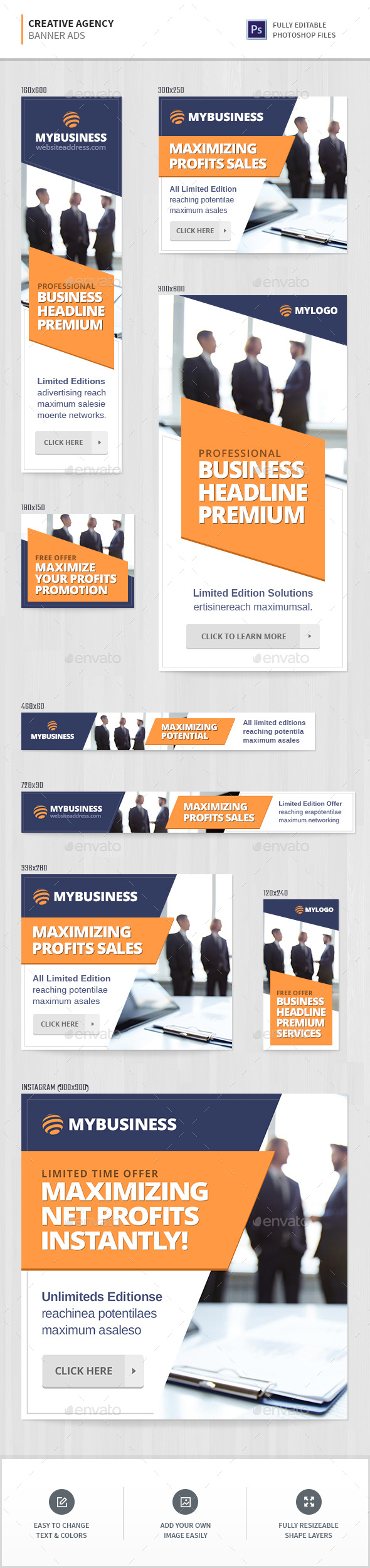 Creative Agency Banners - Banners & Ads Web Elements