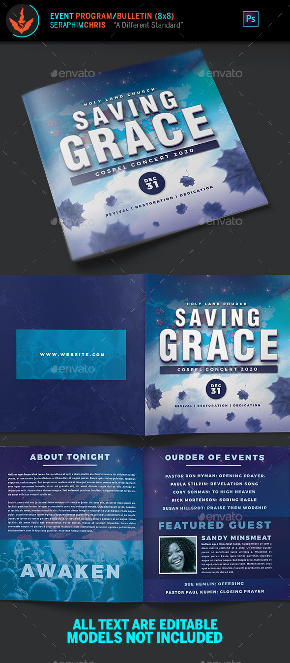 Gospel Concert Program Template - Informational Brochures