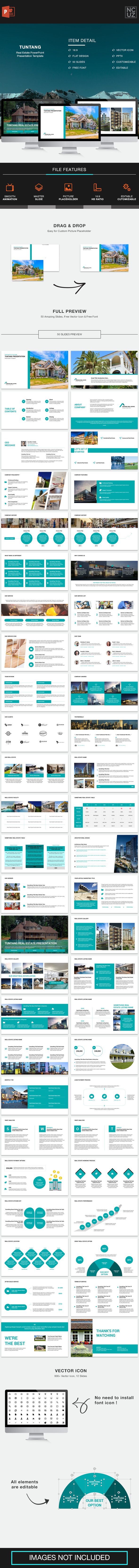 Tuntang Real Estate PowerPoint Template - Business PowerPoint Templates