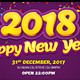 Happy New Year 2018 Facebook Timeline Cover - GraphicRiver Item for Sale