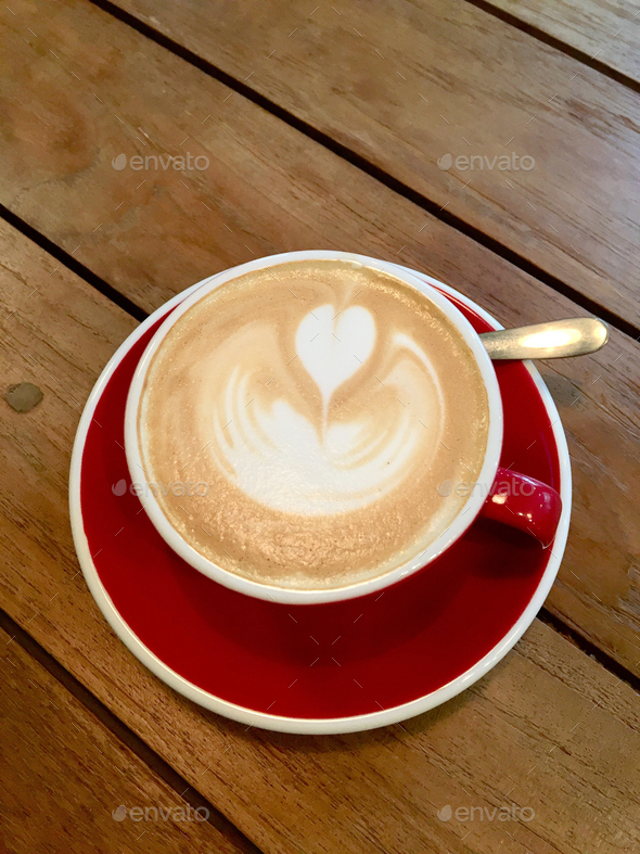 Cup of cappuccino - Stock Photo - Images