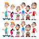 Male Avatars with Interchangeable Heads and Bodies - GraphicRiver Item for Sale