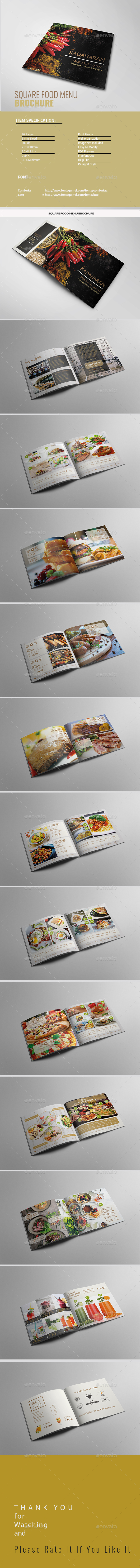 Square Food Brochure - Restaurant Flyers