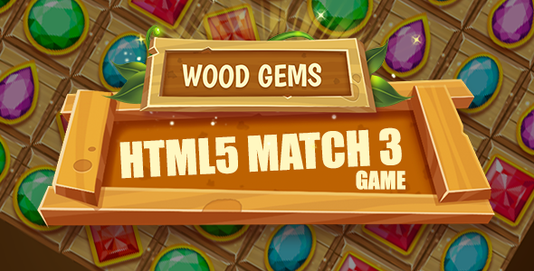 Wood Gems HTML5 Game - CodeCanyon Item for Sale