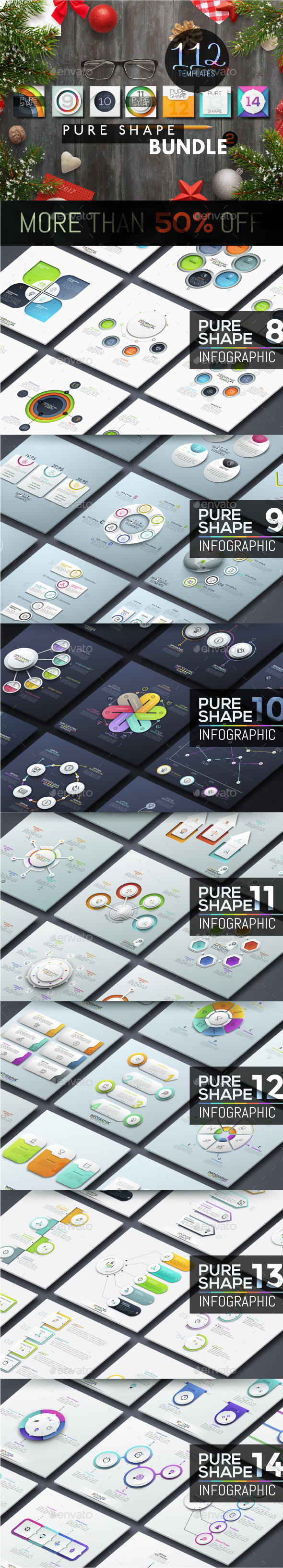 Pure Shape Infographic Bundle 2 - Infographics