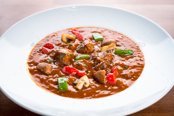 Beef stew with vegetables - Stock Photo - Images