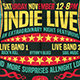 Indie Live Flyer Template - GraphicRiver Item for Sale