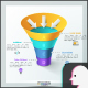 3D Ribbon Funnel Infographic