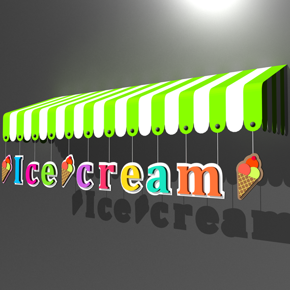 Awning 3d Model 06 - 3DOcean Item for Sale
