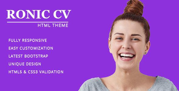 ThemeForest Resume CV vCard & Portfolio 20848716