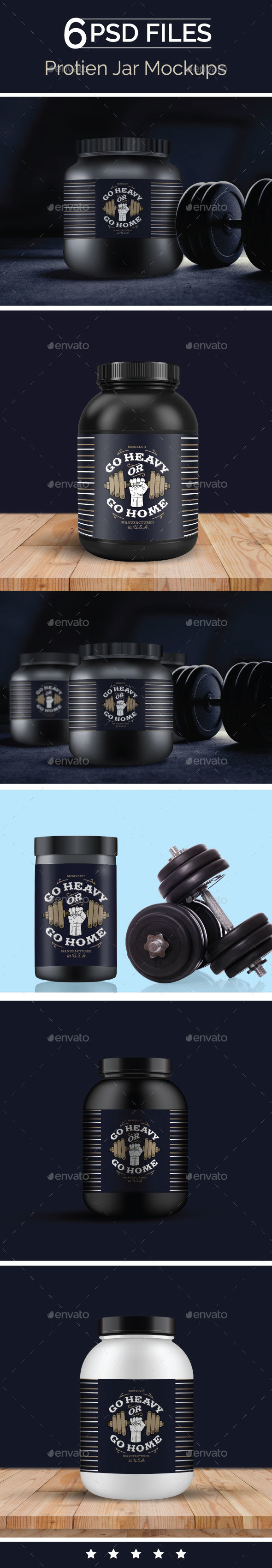 Protein Container, Supplement bottle Mock Up - Food and Drink Packaging