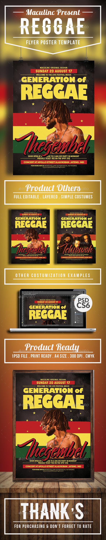Reggae Roots Flyer/Poster Vol.4 - Concerts Events