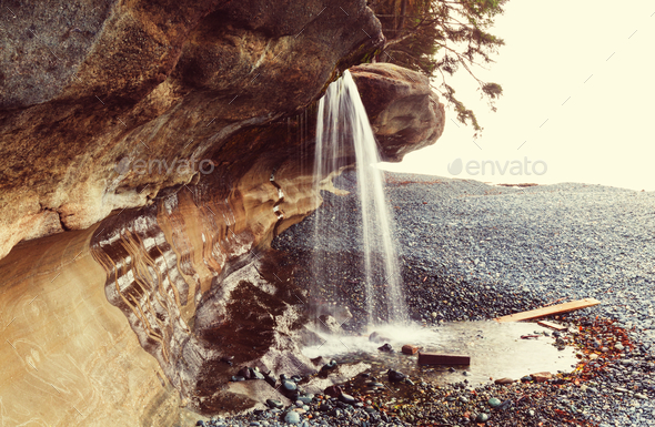 Waterfall in Vancouver - Stock Photo - Images