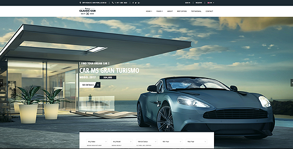 Image of Car Finder, Auto Dealer Bootstrap Template