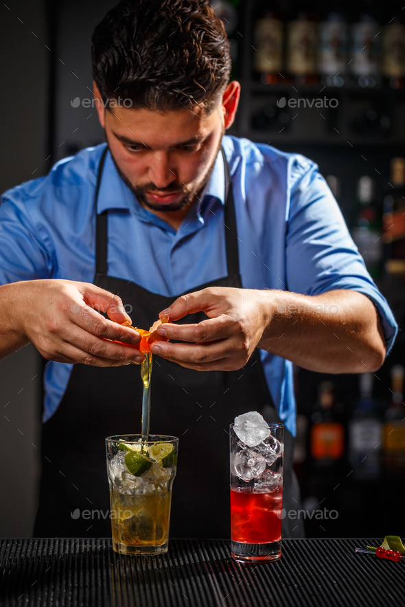 Bartender is working - Stock Photo - Images