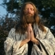 Yogi Praying on Nature