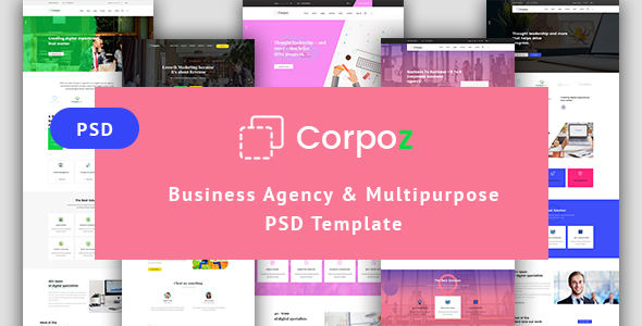 ThemeForest Business Agency & Multipurpose PSD Template 20932435