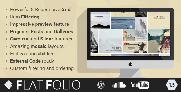 FlatFolio - Flat & Cool WP Portfolio - CodeCanyon Item for Sale