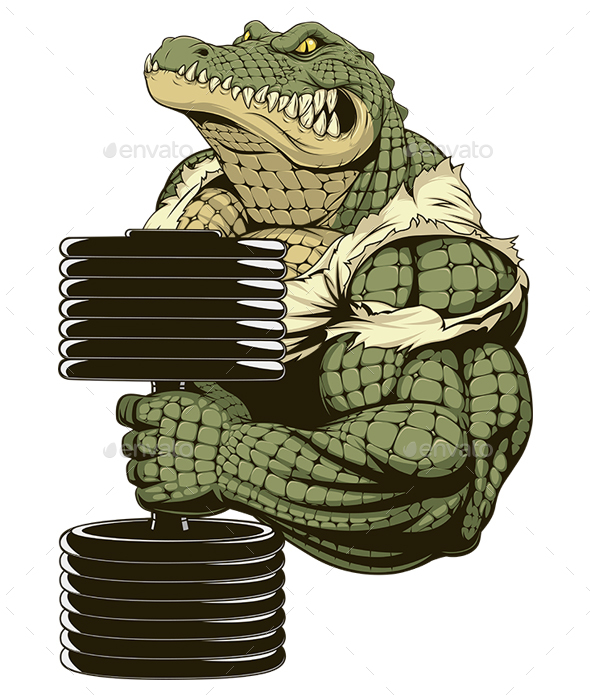 GraphicRiver Strong Crocodile 20932685