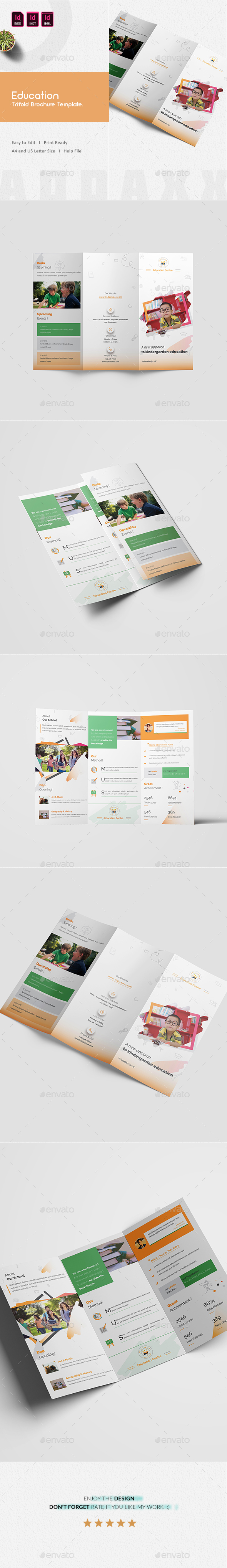Education Trifold Brochure Template - Informational Brochures