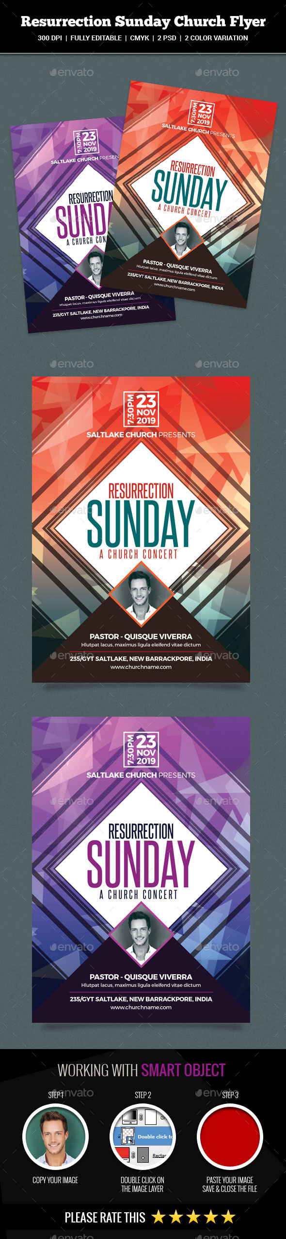 Resurrection Sunday Church Flyer - Church Flyers