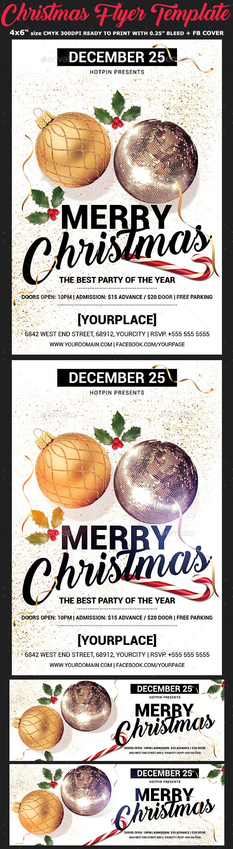 Christmas Flyer Template - Flyers Print Templates
