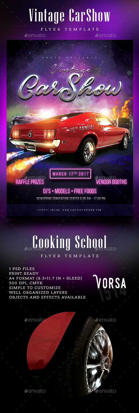 Vintage CarShow Flyer - Events Flyers