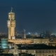 Famous Arnolfo Tower of Palazzo Vecchio  on the Piazza Della Signoria at Twilight in Florenc - VideoHive Item for Sale