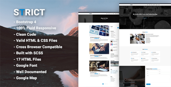 ThemeForest Strict Bootstrap 4 Professional HTML Template 20838029