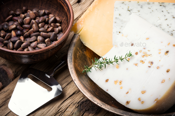 Different kinds of cheeses - Stock Photo - Images