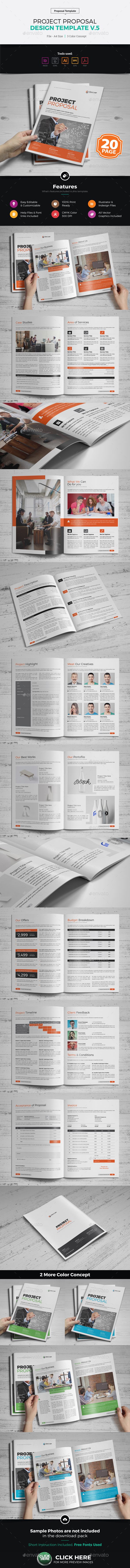Project Proposal Design v5 - Proposals & Invoices Stationery