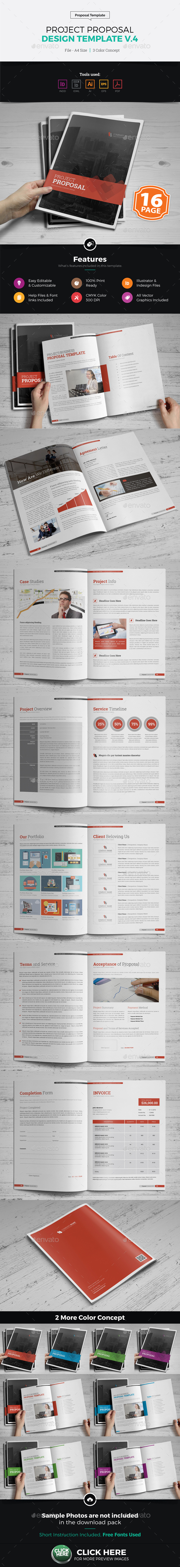 Project & Business Proposal Design v4 - Proposals & Invoices Stationery