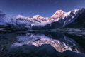 Himalayn mountains and mountain lake at starry night in Nepal - PhotoDune Item for Sale