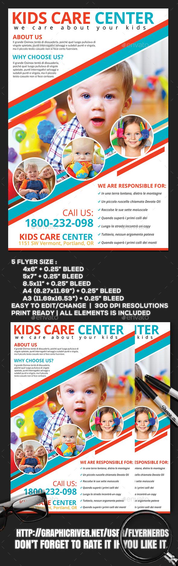 Kids Care Center Flyer - Commerce Flyers