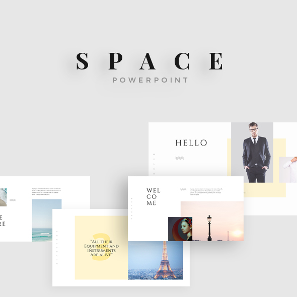 GraphicRiver Space Minimal Powerpoint 20933747