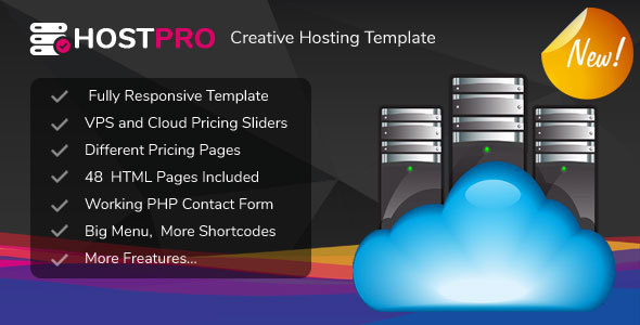 ThemeForest HOSTPRO Responsive Professional Clean and Creative Hosting and multipurpose Template 20933746