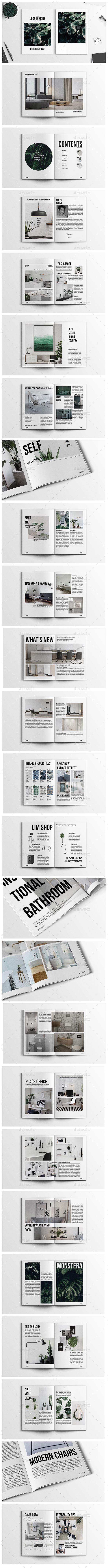 Home Design & Interior Magazine - Magazines Print Templates