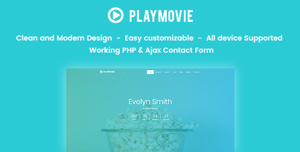 PlayMovie -  Video Blog Entertainment - Site Templates