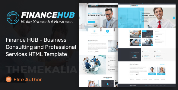 Download Finance HUB - Business Consulting and Professional Services HTML Template            nulled nulled version