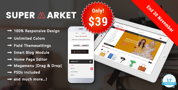SuperMarket Online - Responsive Prestashop 1.7 Theme