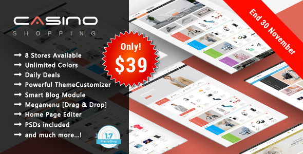 Casino - Shopping Responsive Prestashop 1.7 Theme - Shopping PrestaShop