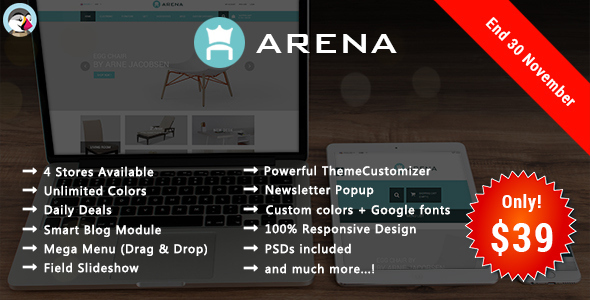Arena - Furniture Responsive Prestashop Theme - Shopping PrestaShop