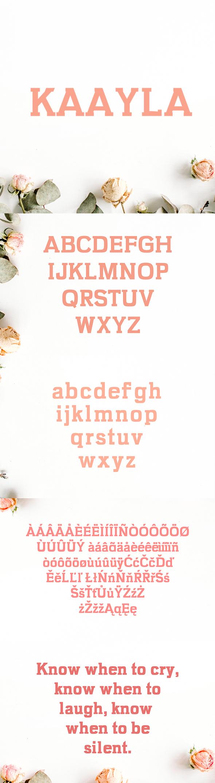 Kaayla Slab Serif 4 Font Pack - Sans-Serif Fonts