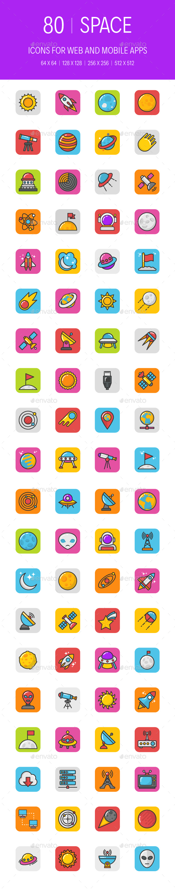80 Space Icons - Icons