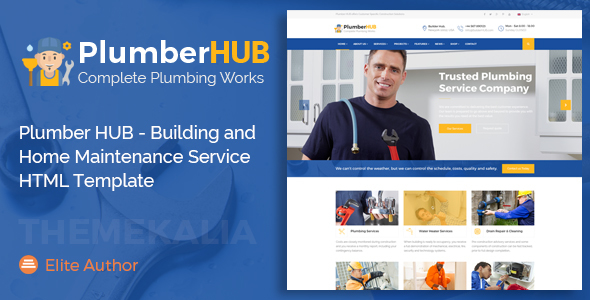 ThemeForest Plumber HUB Building and Home Maintenance Service HTML Template 20933998