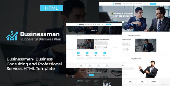 Download Businessman - Business Consulting and Professional Services HTML Template            nulled nulled version