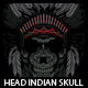 Head Indian Skull T-shirt design
