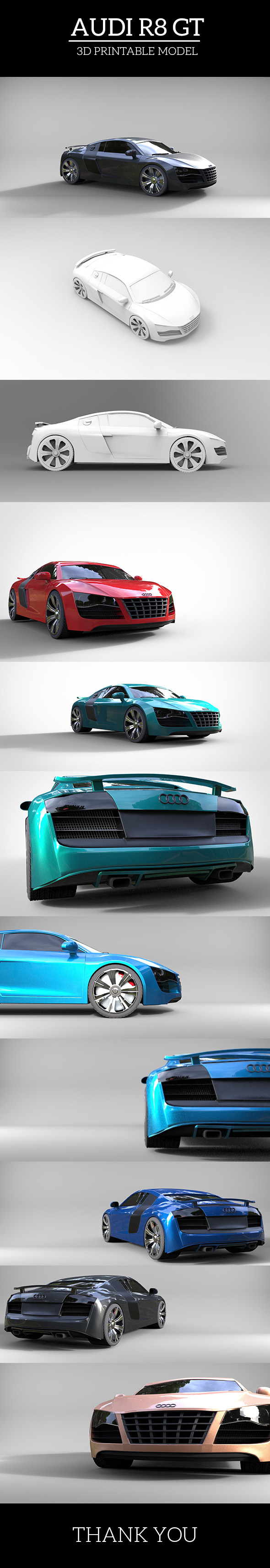 Audi R8 GT - 3DOcean Item for Sale