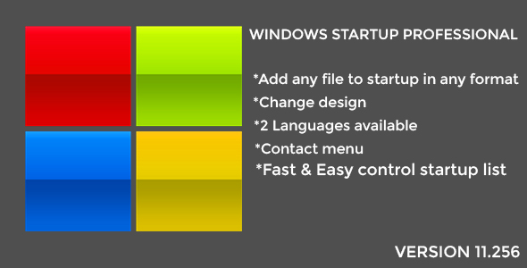 CodeCanyon Windows Startup Professional 20934197