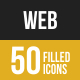 Web Filled low Poly B/G Icons